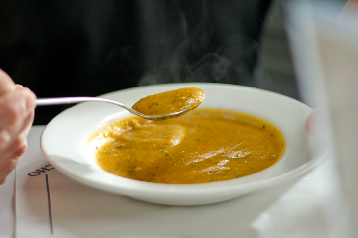 Crema de carabassa del restaurant Arc Iris.