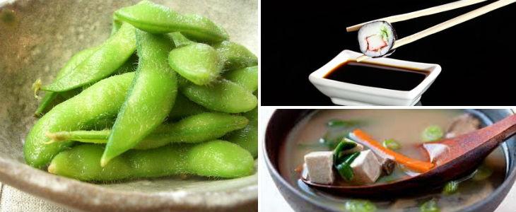 La salsa de soja, els edamames o el tofu provenen de soja que sovint és transgènica