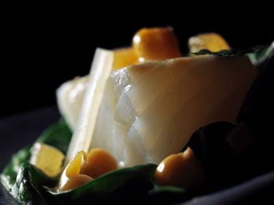 bacallà amb miso i bledes de Carles Abellan
