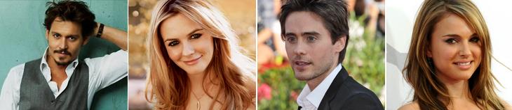 Johnny Depp, Alicia Silverstone, Jared Leto, Natalie Portman