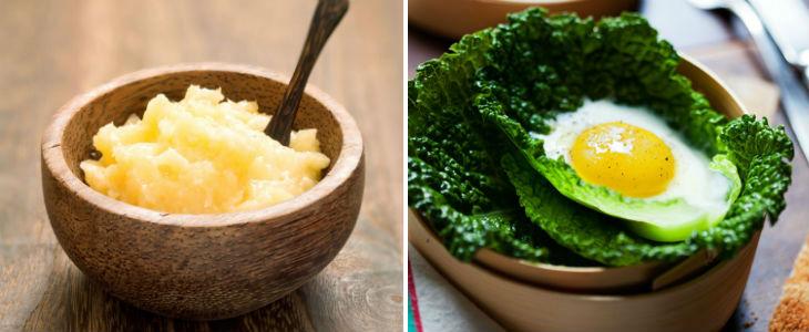 Wolfe recomana afegir a la dieta productes com el Ghee i l'ou en alguns casos