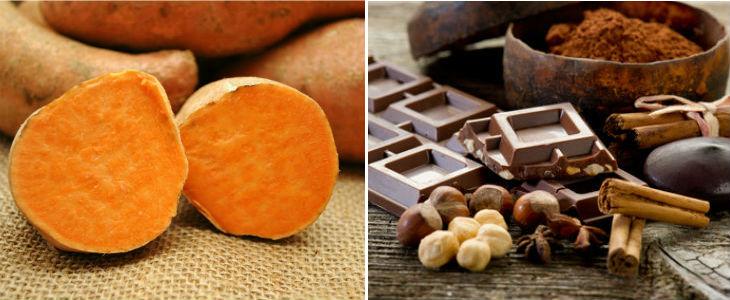 Wolfe recomana moniato cuit pels infants i xocolata crua per tothom