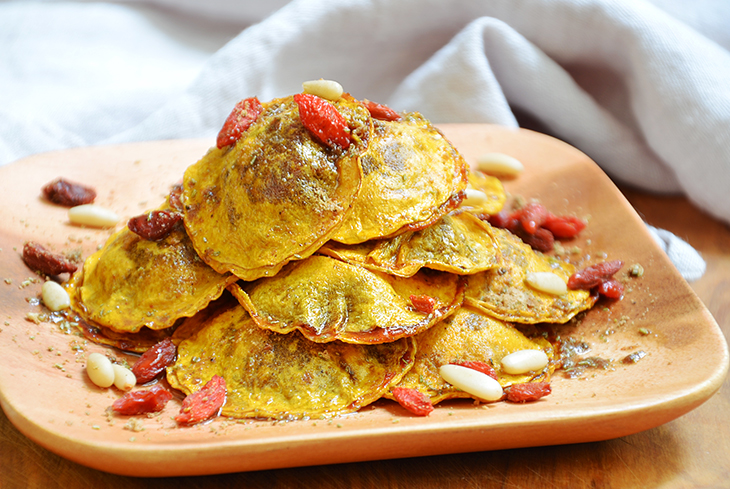 Recepta de raviolis de carbassa amb cor de tomàquet per Consol Rodíguez
