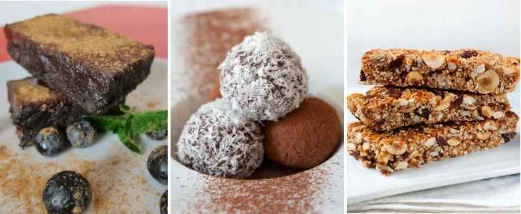 Postres saludables: rawnie, boletes, turrons de cereals. Fotos boletes i turrons: Pau Esculies.