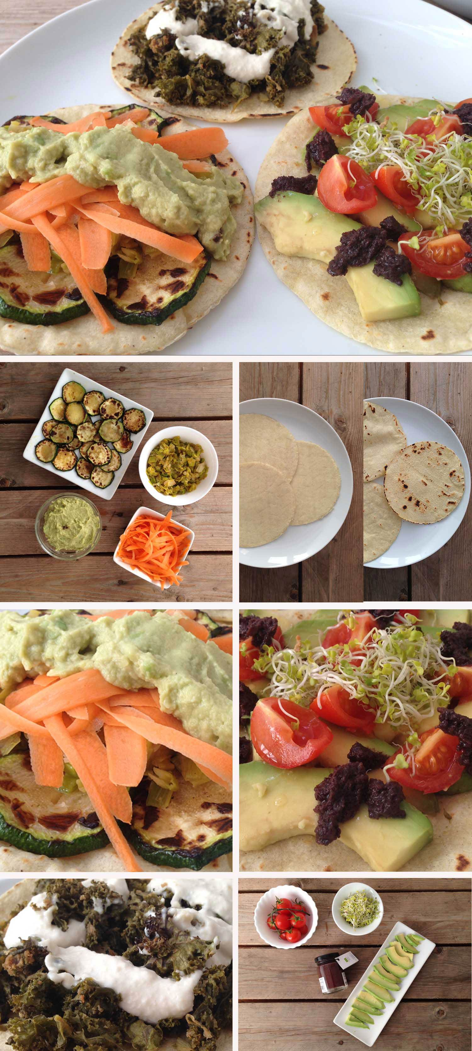 Ingredients i elavoració tacos vegans sense gluten