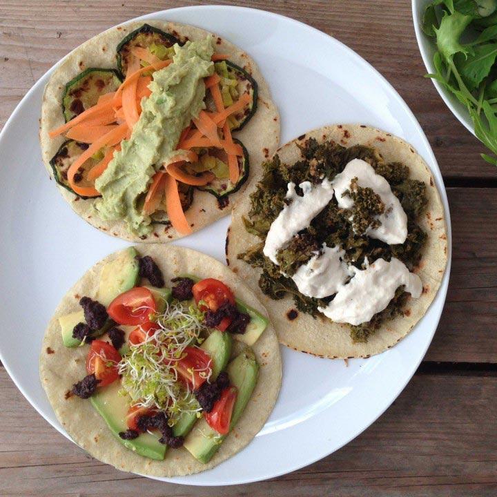 Tacos vegans sense gluten