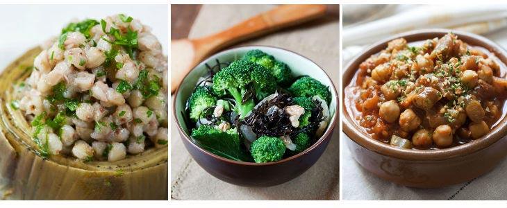 Fajol, brócoli y cochayuyo