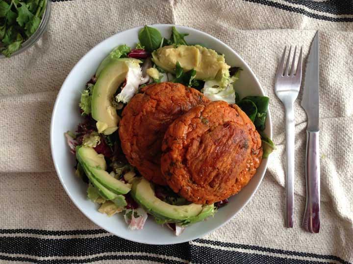 Hamburguesa de moniato
