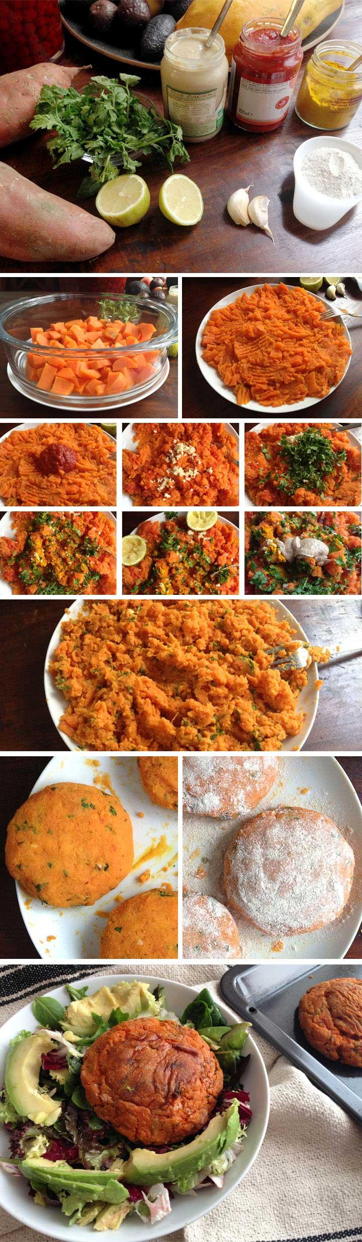 Ingredients i elavoració hamburguesa de moniato