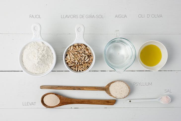 Ingredients recepta pa de fajol
