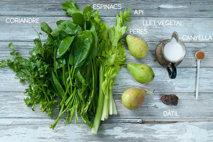 Ingredients batut verd alcalinitzant