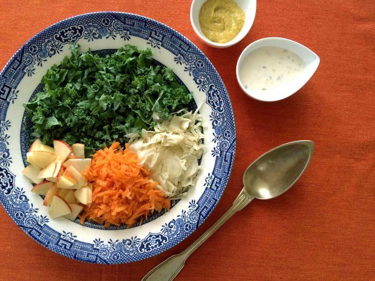 Ingredients kaleslaw