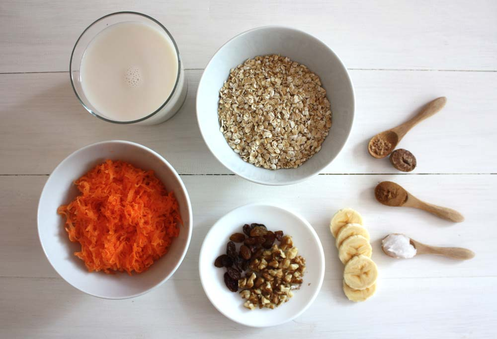Ingredients porridge de civada
