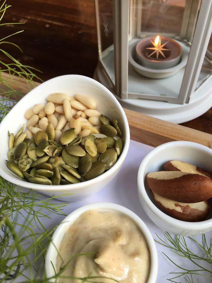 Pinyons i llavors de carbassa