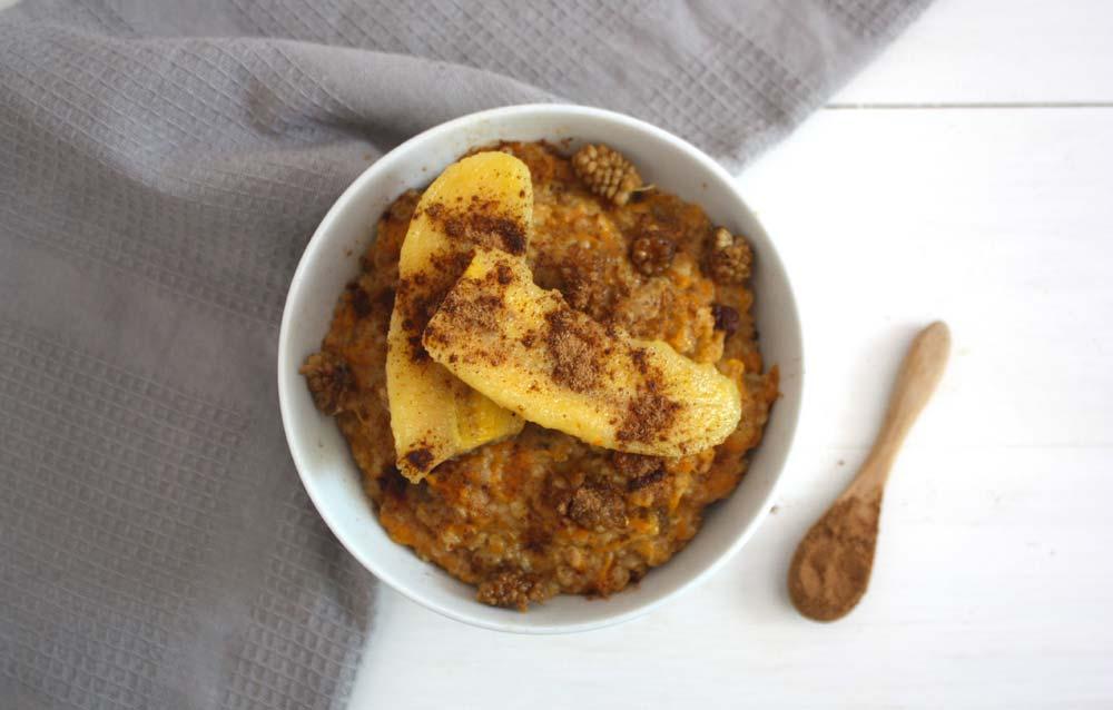 Porridge de civada a l'estil carrot cake
