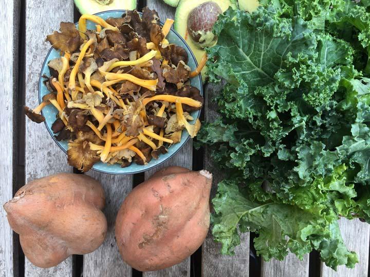 Col kale, camagrocs i moniatos