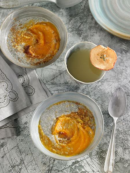 Compota de pastanaga i poma i hidratat de chía