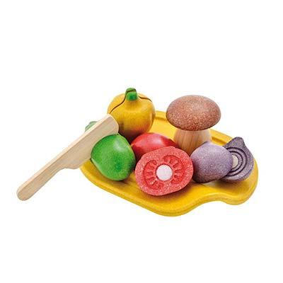 Safata de verdures de fusta