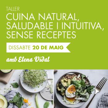 banner Cuina natural, saludable i intuitiva, sense receptes