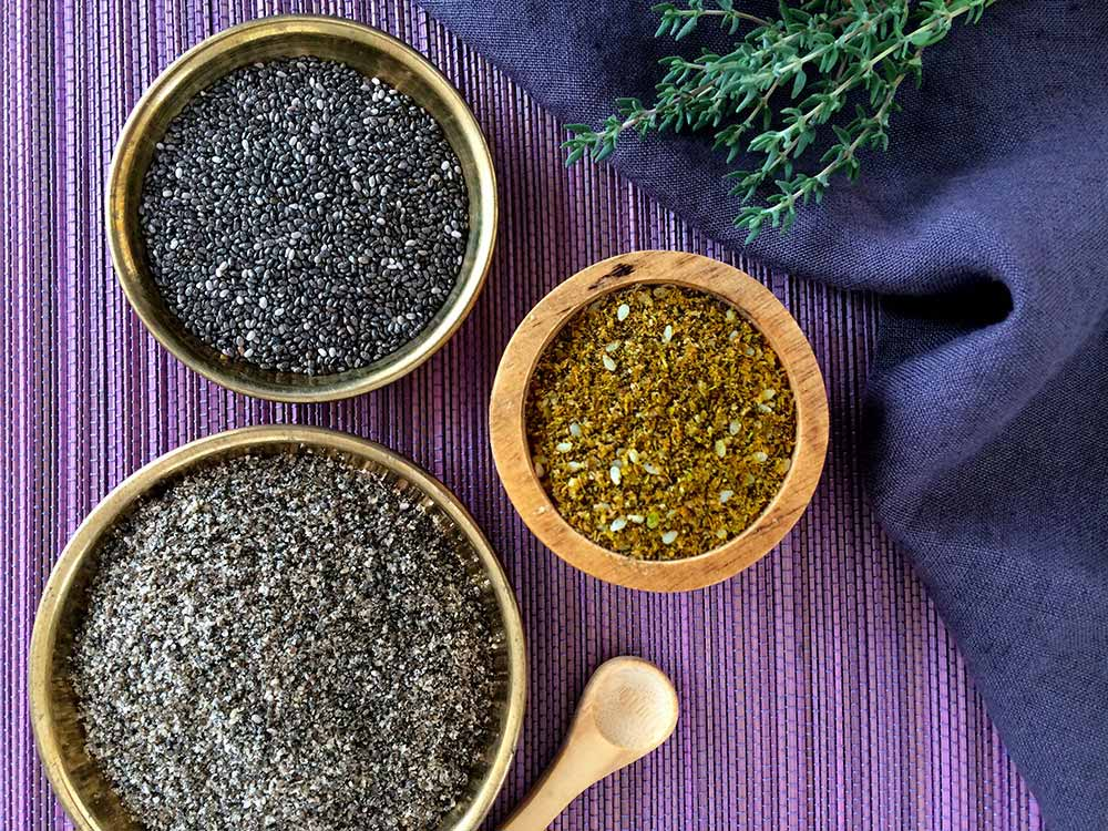 Delícia de carbassó-chía amb zaatar; el secret de les espècies que curen