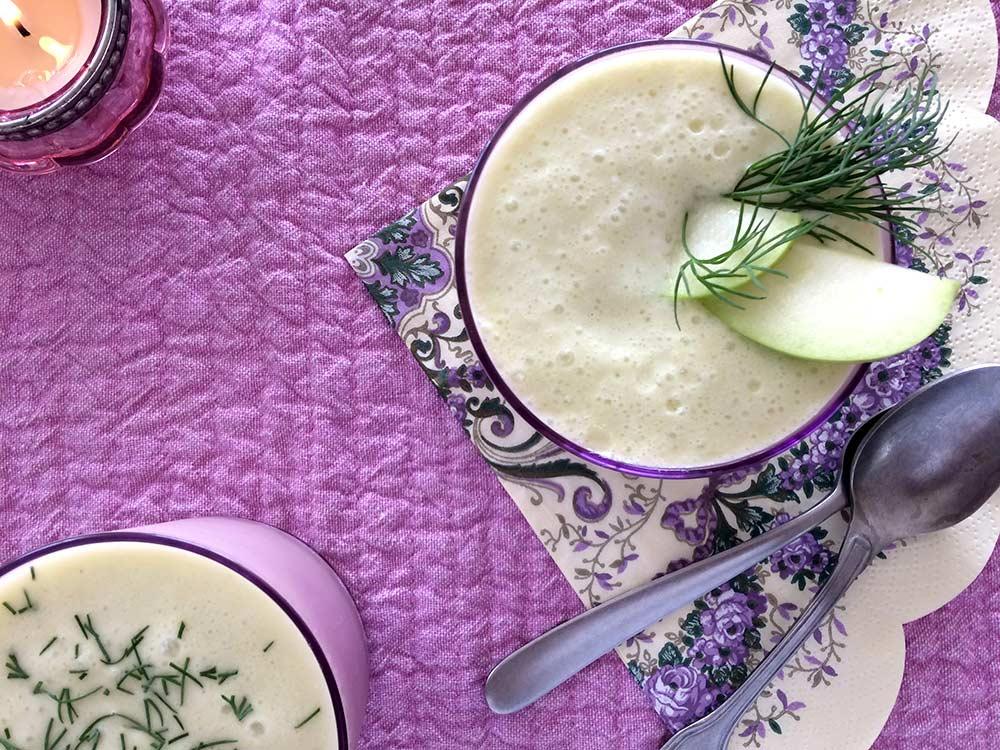 Sopa hidratant de porro i meló