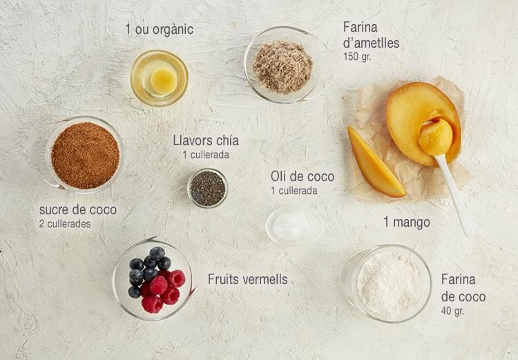 Cassoletes de mango i coco