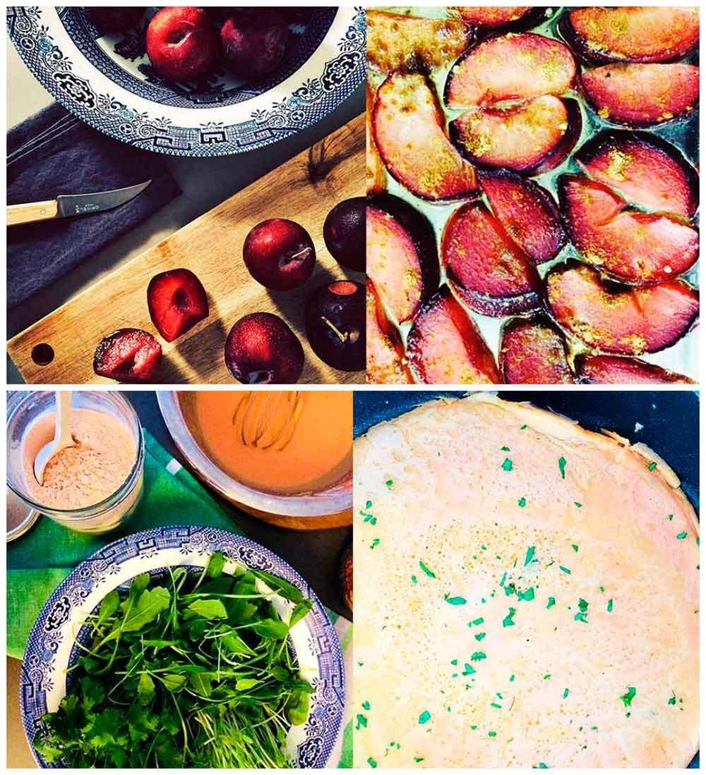 "Creps de llentia vermella amb prunes ""bye bye estiu"", curri i una salsa d'anacards deliciosa"