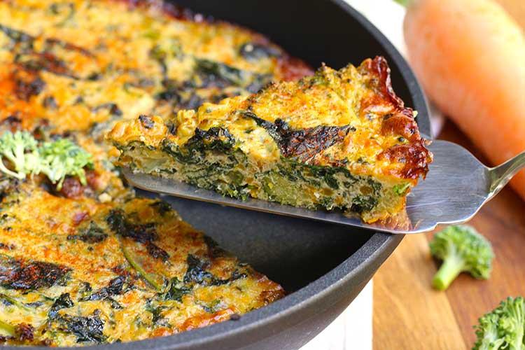 Recepta de frittata de bròquil i kale