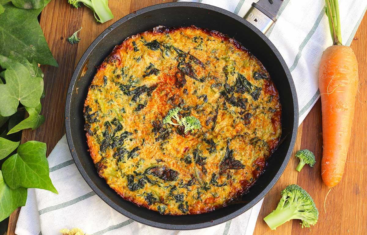 Receta de frittata de brócoli y kale