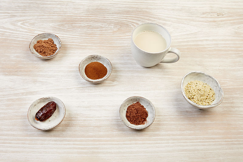 Ingredients del hot Smoothie Chai