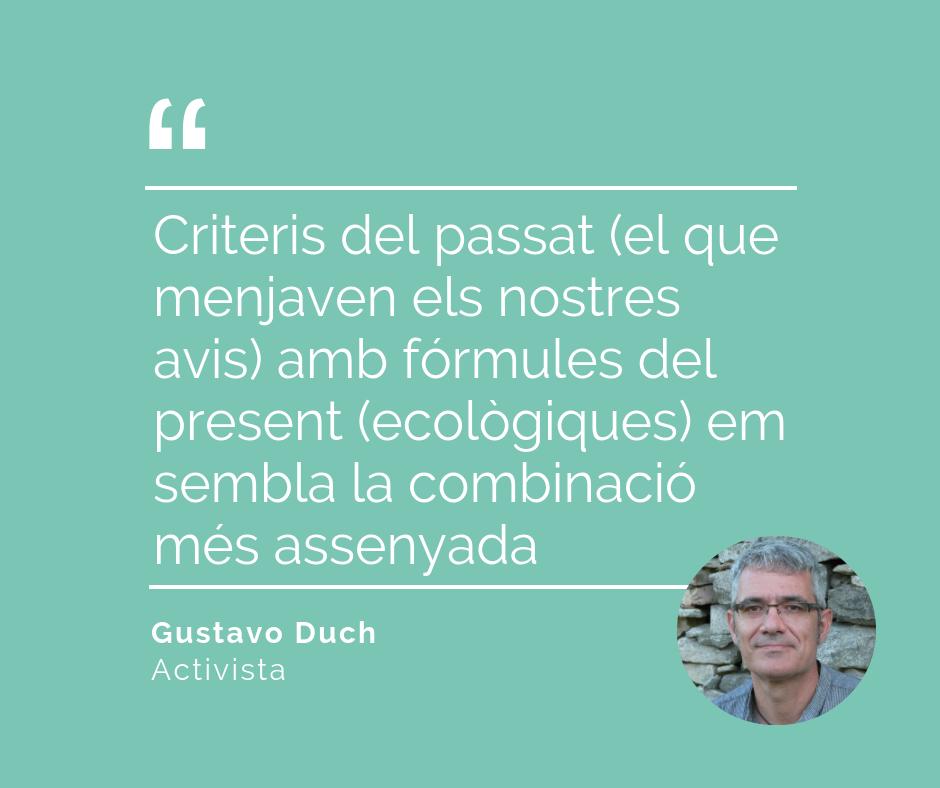 El criteri de Gustavo Duch per