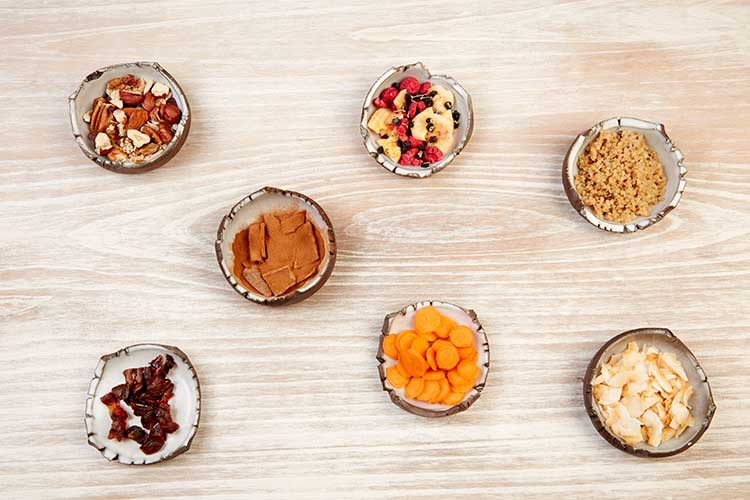 Recepta de crunchy de granola de quinoa