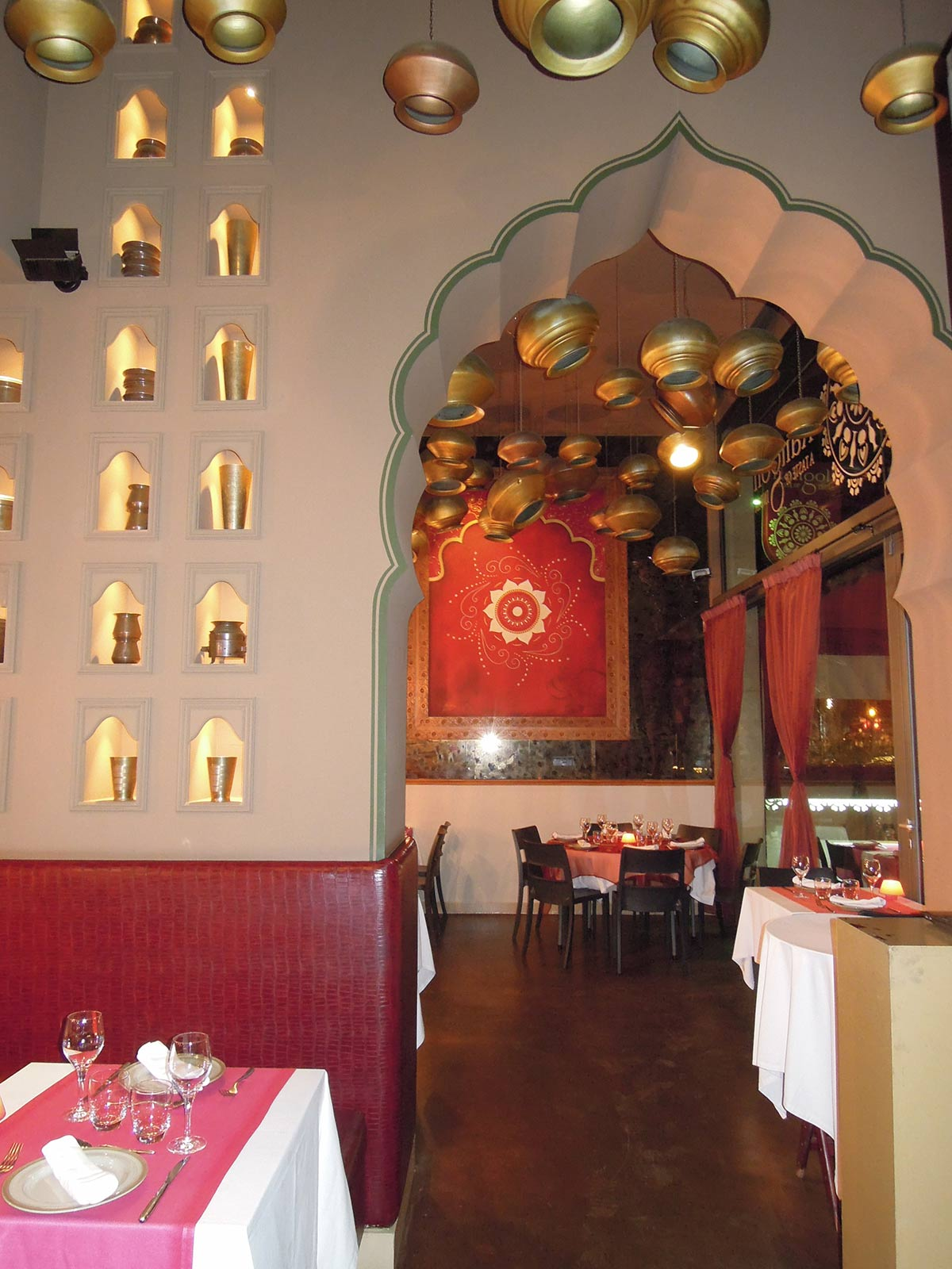 Interior del restaurant hindú i vegà Rangoli