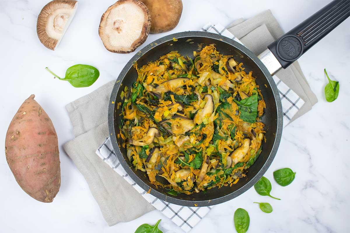Paella de verdures i moniato