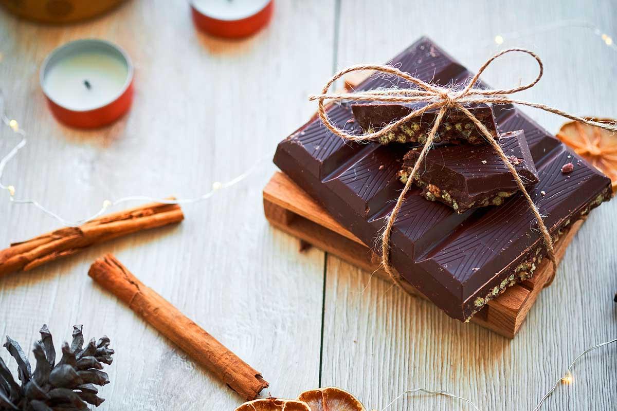 Turró de xocolata saludable