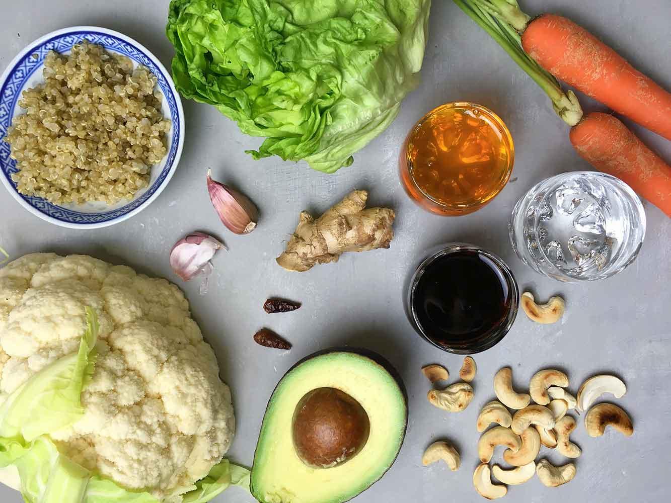 Ingredients recepta coliflor Kung Pao