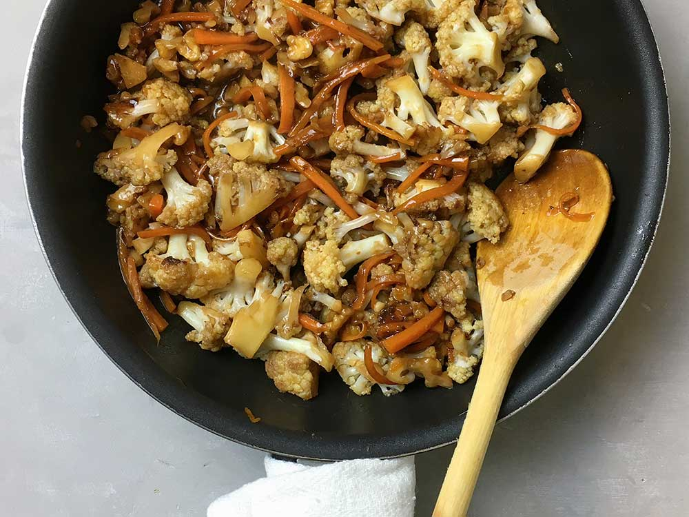 recepta coliflor Kung Pao