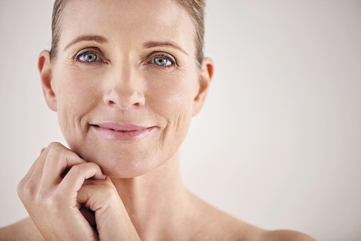Dona madura pell antiaging
