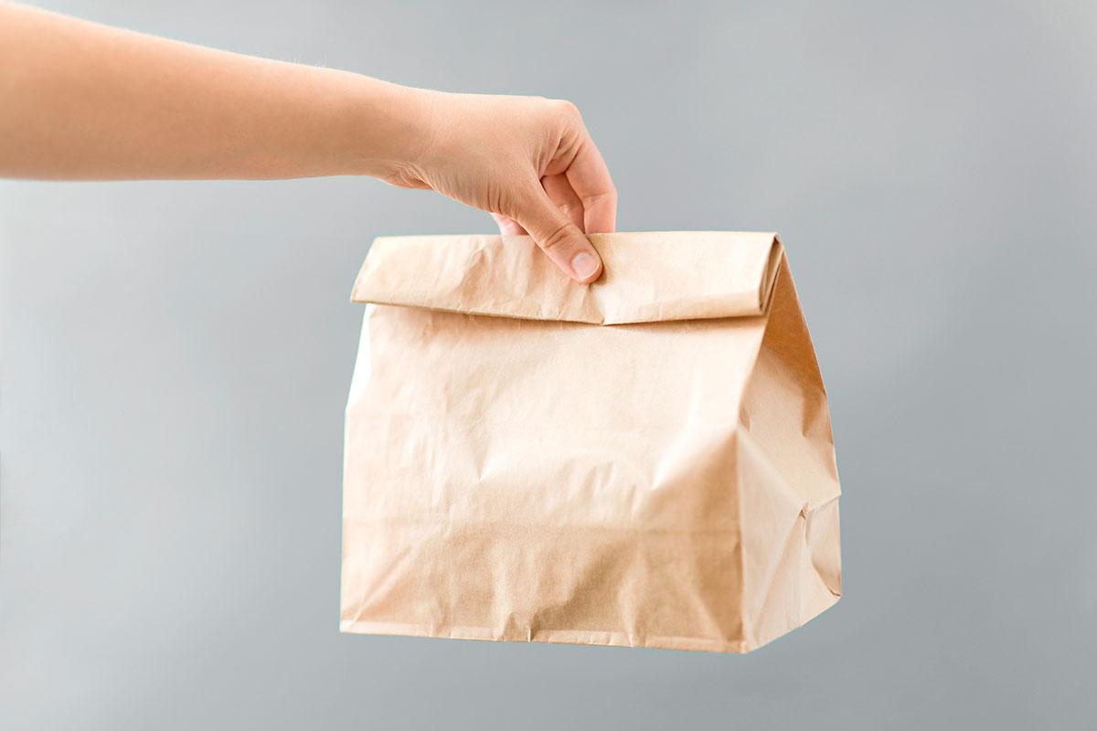 bossa paper menjar per emportar