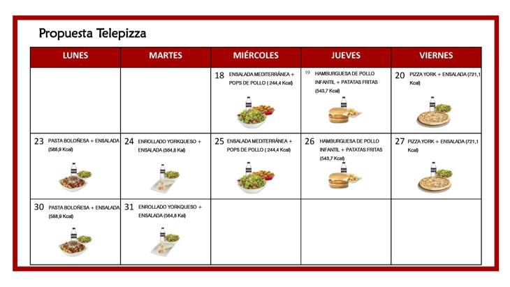 Menú Telepizza