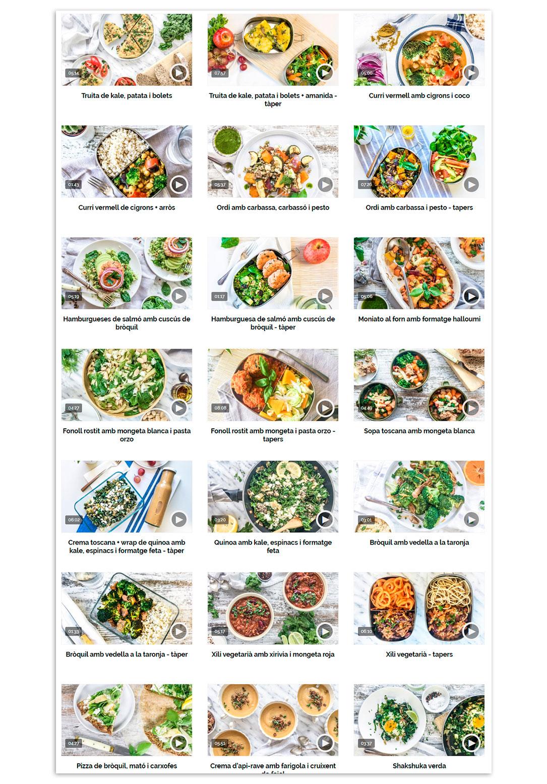 Curso Online recetas tupper saludable para toda la semana