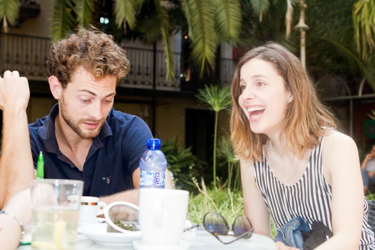 Margalida Grimalt i Peter Vives, actors