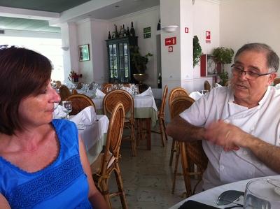 L'escriptora Maite Salord i el cuiner Miquel Mariano