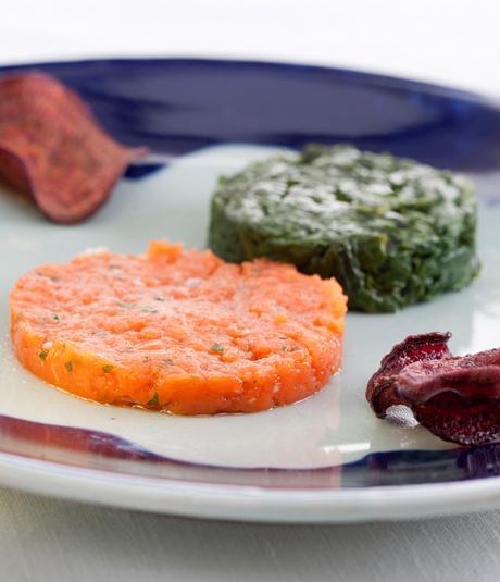 Tàrtar de salmó i espinacs