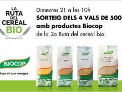 Sorteig de 4 vals de 500€ de Biocop