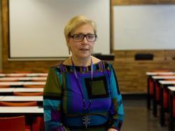 Ángeles Pallarès, doctora en Antropologia, diplomada en Infermeria i coordinadora del projecte d'investigació de l'ONG Radjem