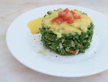 Amanida de mongeta verda amb vinagreta de préssec