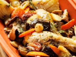 Cocotte de verdures i pollastre