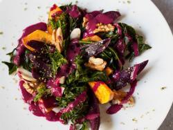 Combinat de moniato lila, carbassa i espigalls