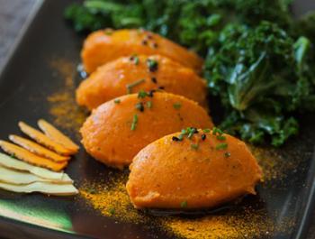 Guarnició antiinflamatòria i prebiòtica: puré de moniato especiat i refrigerat